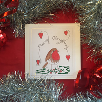 Robin Christmas cards.. Pack of 4