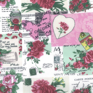 Shabby Chic Fabric - Pink Patchwork - By The Metre - Quilting Antique