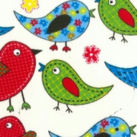 Colourful birds - Kids design - Upholstery, dressmaking and craft fabric - Metre