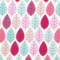 Shabby Chic Fabric - Modern Leaves Design- By The Metre - Craft Fabric