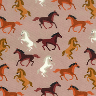 Horse Fabric - Cowboys and indians style - By The Metre - Kids Fabric