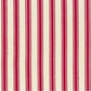 Shabby Chic Fabric - Red and cream stripes - By The Metre - Craft Fabric
