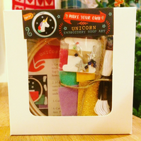 Sparkly Unicorn Hoop Craft Kit