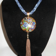 Blue Dream, Kumihmo and Cloisonne necklace