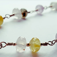 Sterling Silver and Quartz Wire-Wrapped Necklace