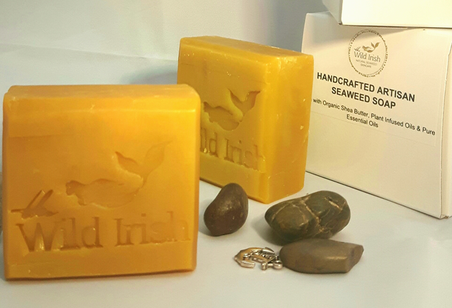 Natural Soap Bar- Mango Seaweed