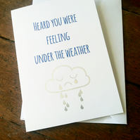 Get well soon card - Feeling under the weather