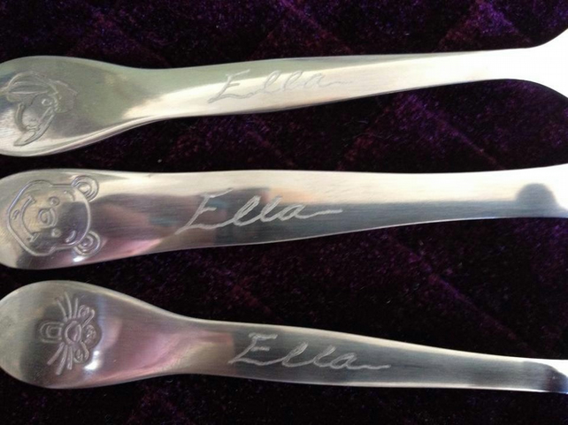 Children's Personalised Cutlery 3 Piece set