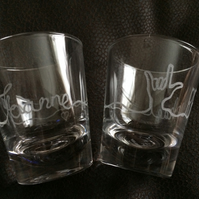 "BSL personalised ""LOVE"" shot glass"