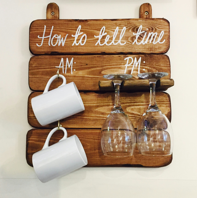 How to Tell Time AM PM board - Mugs and Glasses