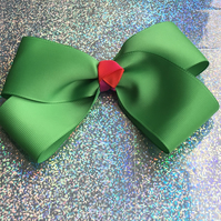 Large green hairbow