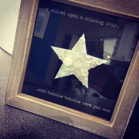 Nursery Wall Art, Nursery Decor, Twinkle Twinkle Little Star, Monochrome