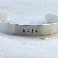 Kale - Hand Stamped Bangle