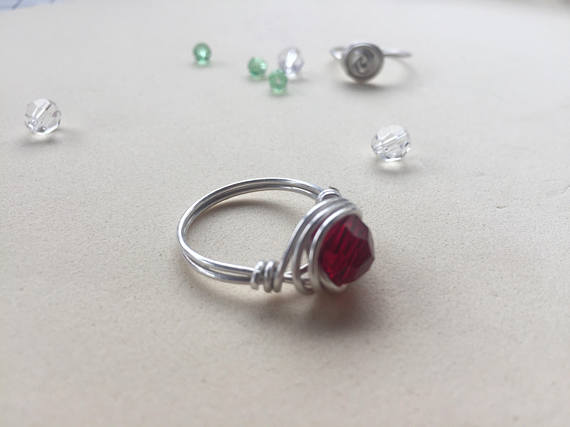 Sterling Silver Wire Wrapped Ring