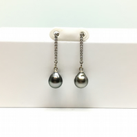 Drop Tahitian Pearl Earrings