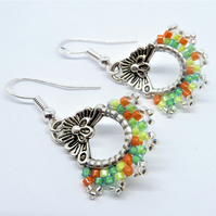 Zesty Hand Stitched Earrings
