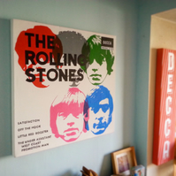 Rolling Stones - Satisfaction EP - 1965 -  Music Inspired Painting , Handpainted