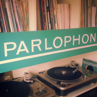 Parlophone Record Label Painting, Music Inspired Painting, Handpainted