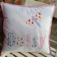 Personalised cushion cover.