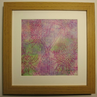 Purple Teasel Monotype