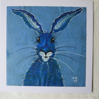 Blue Hare on Blue