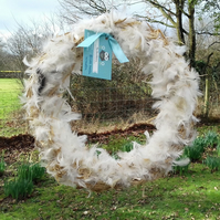 Birds Nest Wreath  - Nesting Material - Fathers Day Gift - Dad Gift
