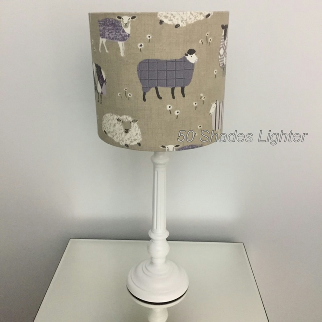 Hand Crafted Henley Baa-Baa-sheep themed 20 cm Lamp-Light shade