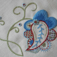 Crewelwork Forget-Me-Not Embroidery Kit