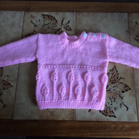 HAND KNITTED BABY GIRLS JUMPER