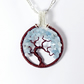 Aquamarine Gemstone Tree Pendant (with chain)