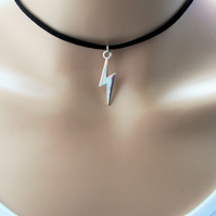 black choker necklace - lightning choker