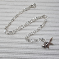 silver necklace - fox necklace - everyday jewellery