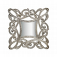 Antique Carved Design Square Wall Art Hanging Mirror Frame Home Decor Silver SRW