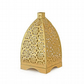 Pyramid Design Candle Holder Stand Hanging Lantern Indoor Outdoor Gold SRLN512