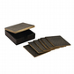 Set of 6 Antique Style Dark Brown Brass Coasters With Box For Tea Cups Bottles S