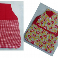 Quilted hot water bottle covers