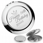 Personalised engraved 16TH BIRTHDAY compact mirror gift, princess - PR16