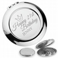 Personalised engraved 21ST BIRTHDAY compact mirror gift, princess - PR21