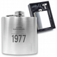 Personalised engraved 40TH BIRTHDAY hip flask keepsake gift - MA40