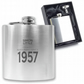 Personalised engraved 60TH BIRTHDAY hip flask keepsake gift - MA60