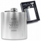 Personalised engraved 50TH BIRTHDAY hip flask keepsake gift - BD50