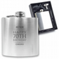 Personalised engraved 70TH BIRTHDAY hip flask keepsake gift - BD70