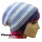 Pastel fade Womans or  teens Crochet fashon hat