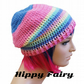 pastel Stripes Crochet slouch hat