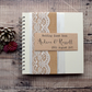 Hessian and Lace Wedding Guest Book - Handmade & Personalised