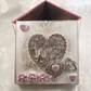 Asters and ornate heart mixed media keepsake trinket box the perfect gift