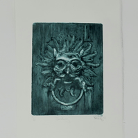 Sanctuary - Original drypoint etching