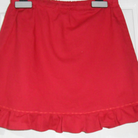 Red cotton skirt age 3 to 4
