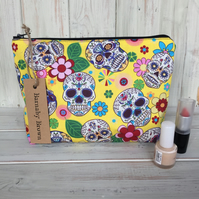 Candy Skull Make Up Bag