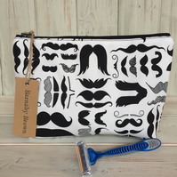 Moustache  Make Up or Wash Bag